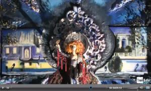 Opera di Cristina Crespo nel servizio RAI della mostra