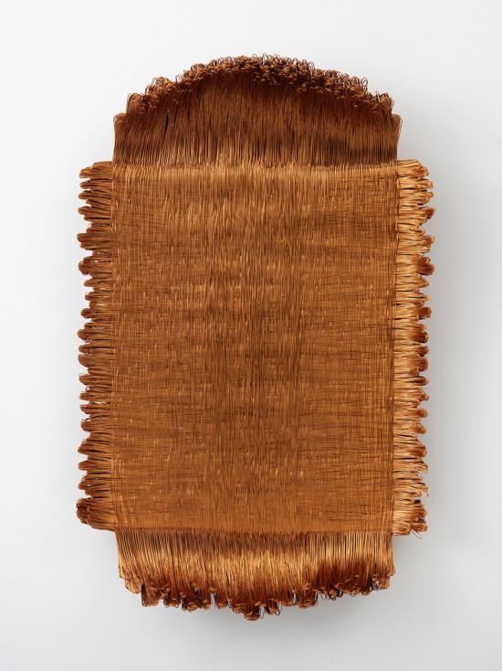 Armonico CCXXIII/CCXIV, 2013/2014, fils de cuivre, 58 x 48 x 14 cm © Antonella Zazzera. Courtesy Galerie Jaeger Bucher / Jeanne-Bucher, Paris. Photo : G. Poncet