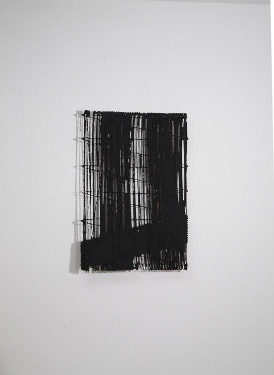 C/S B103-07, 2013, cellulose, fils de cuivre et pigments noirs, 65 x 45 cm © Antonella Zazzera. Courtesy Galerie Jaeger Bucher / Jeanne-Bucher, Paris.