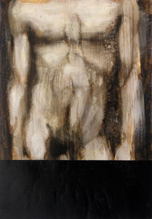 Nudo Maschile- 4, olio su carta, cm 35x50,2006. foto S.Ferracci
