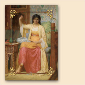 "post-er-card – Charles Edward Perugini ""La Ventagliera"""