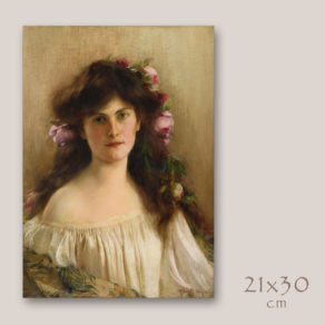 """Albert Lynch """"ritratto di giovane ragazza"""""""